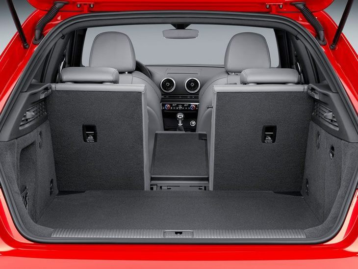 Audi A3 Sportback Back Interior Red