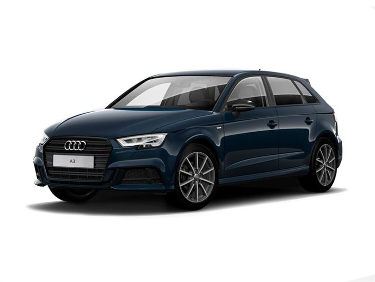 audi a3 sportback 2 0 tfsi black edition car leasing nationwide vehicle contracts. Black Bedroom Furniture Sets. Home Design Ideas