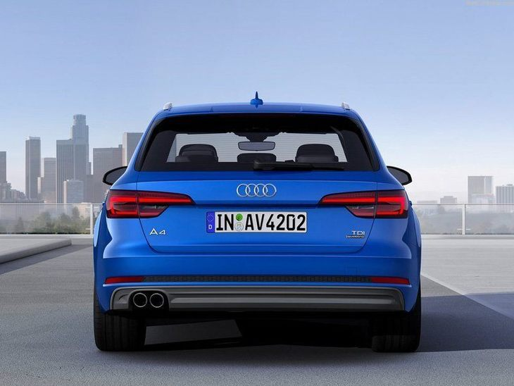 Audi A4 Avant New Model Blue Exterior Back
