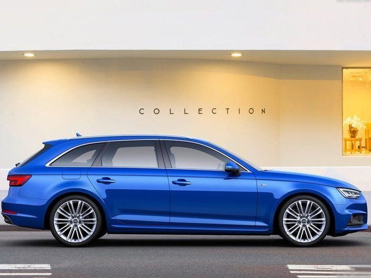 Audi A4 Avant New Model Blue Exterior Side