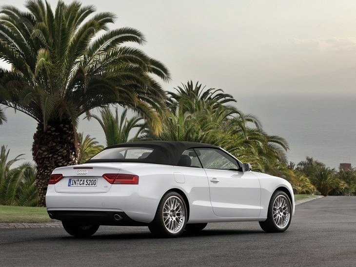 Audi A5 Cabriolet White Exterior Back