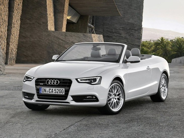 Audi A5 Cabriolet White Exterior Front 2