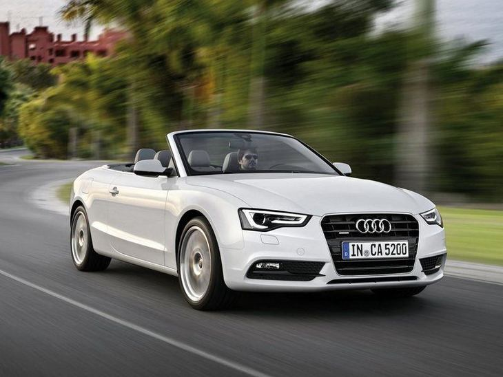 Audi A5 Cabriolet-White Exterior Front