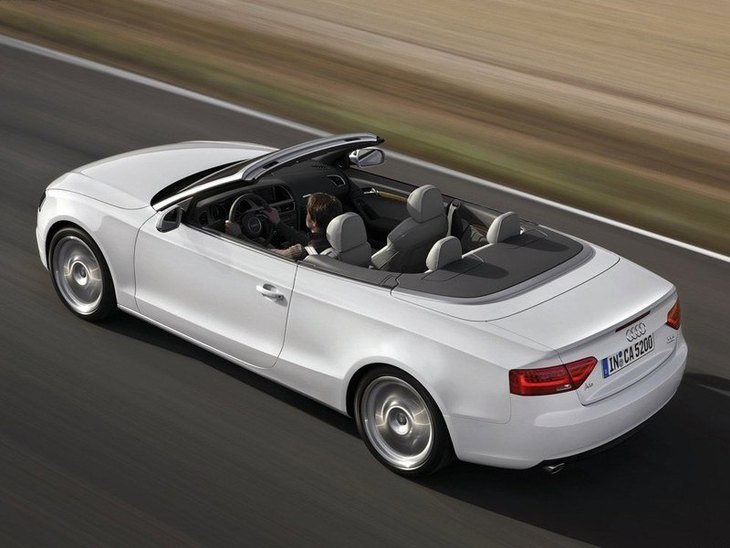 Audi A5 Cabriolet White Exterior Top