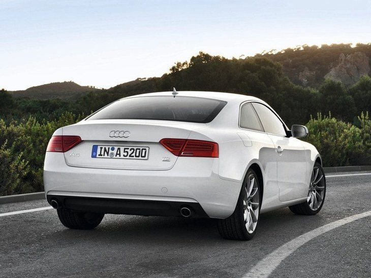 Audi A5 Coupe White Exterior Back