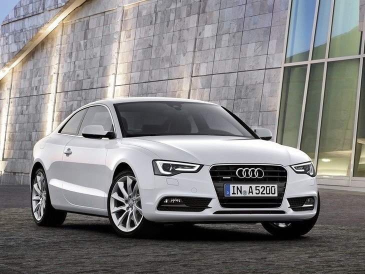Audi A5 Coupe White Exterior Front
