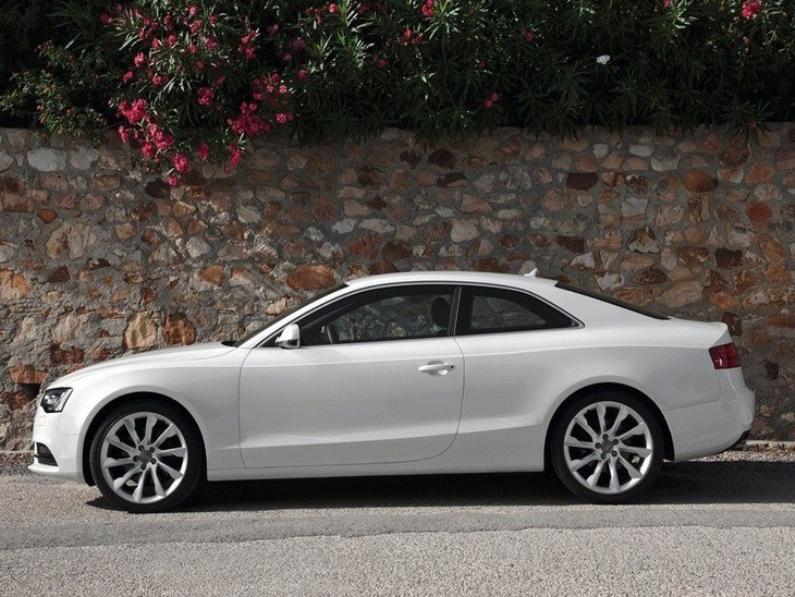 Audi A5 Coupe White Exterior Side