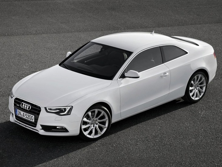 Audi A5 Coupe White Exterior Top