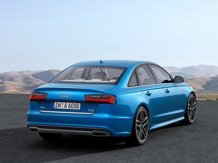 Audi A6 Saloon Blue Exterior Back