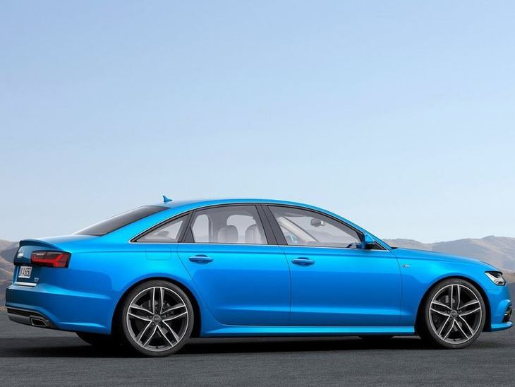Audi A6 Saloon Blue Exterior Side