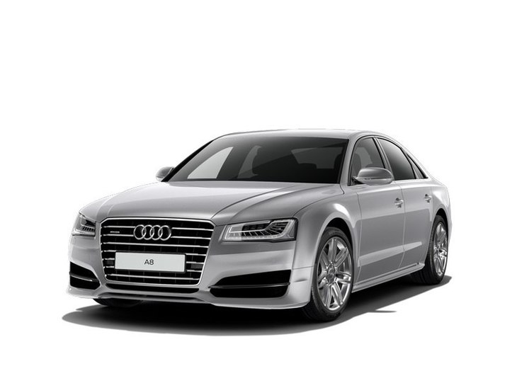 Audi A8 Saloon silver front