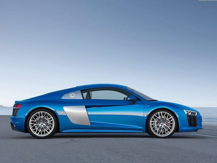 Audi R8 New Model Blue Exterior Side