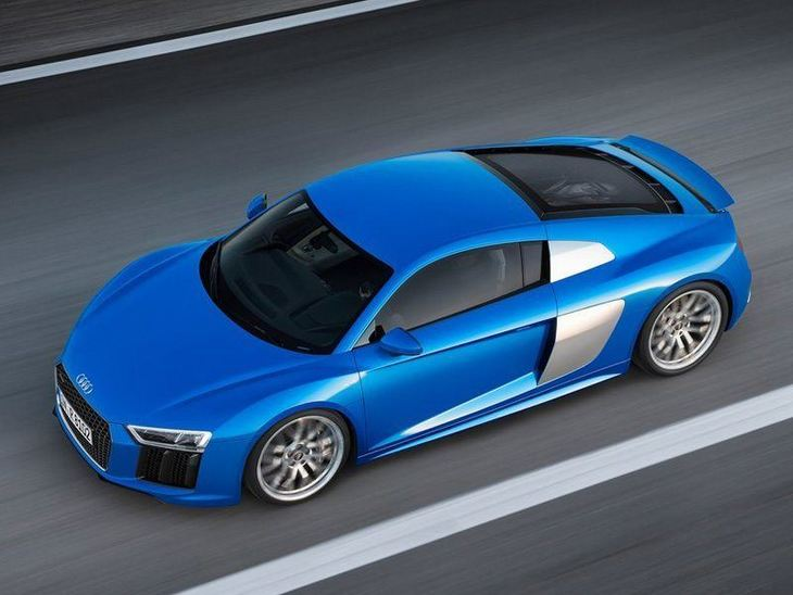 Audi R8 New Model Blue Exterior Top