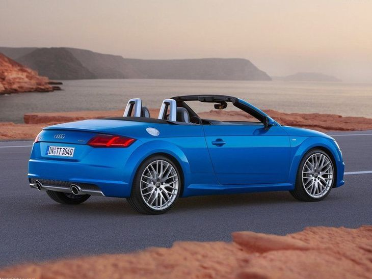 Audi TT Roadster Blue Exterior Back