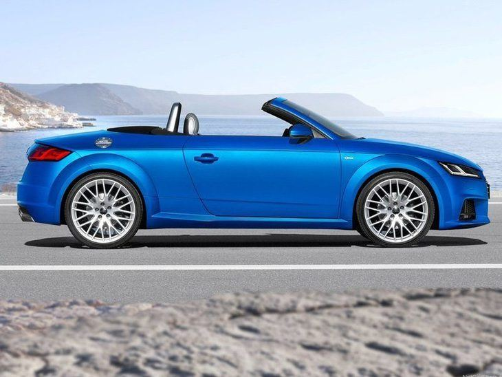 Audi TT Roadster Blue Exterior Side