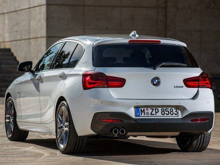 BMW 1 Series White Exterior Back