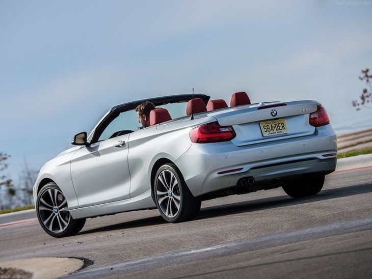 BMW 2 Series Convertible Silver Back