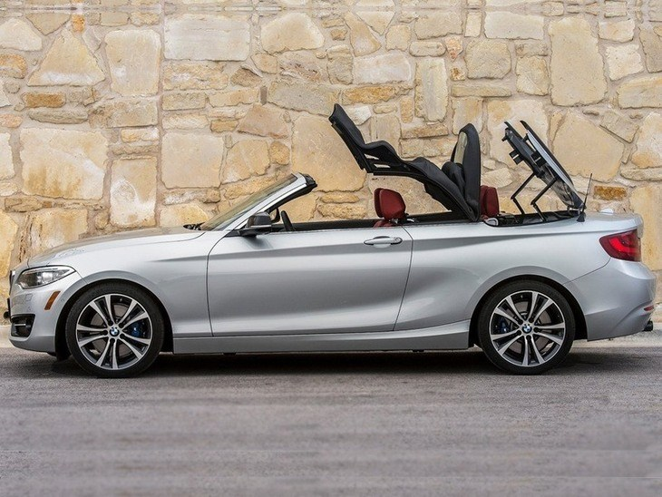 BMW 2 Series Convertible Silver Exterior Side