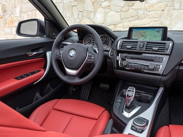 BMW 2 Series Convertible Red Interior Front