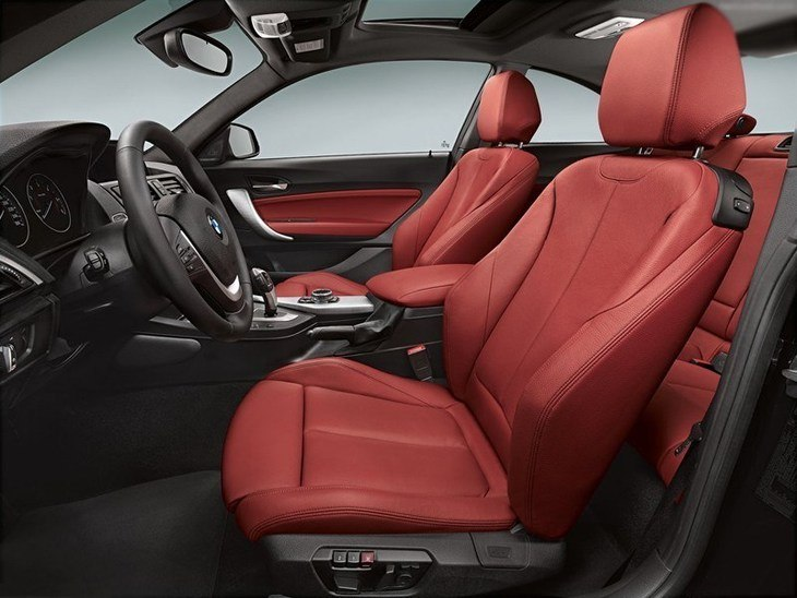 BMW 2 Series Coupe Red Interior Side