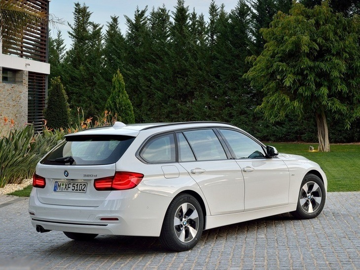 BMW 3 Series Touring White Exterior Back