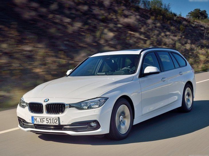 BMW 3 Series Touring White Exterior Front
