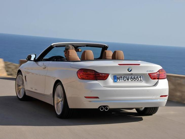 BMW 4 Series Convertible White Exterior Back