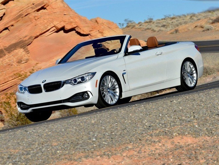 BMW 4 Series Convertible White Exterior Front 2