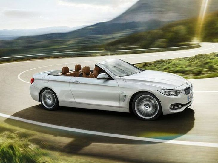 BMW 4 Series Convertible White Exterior Side
