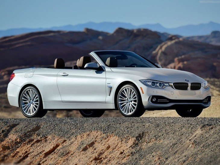 BMW 4 Series Convertible White Exterior Front 1