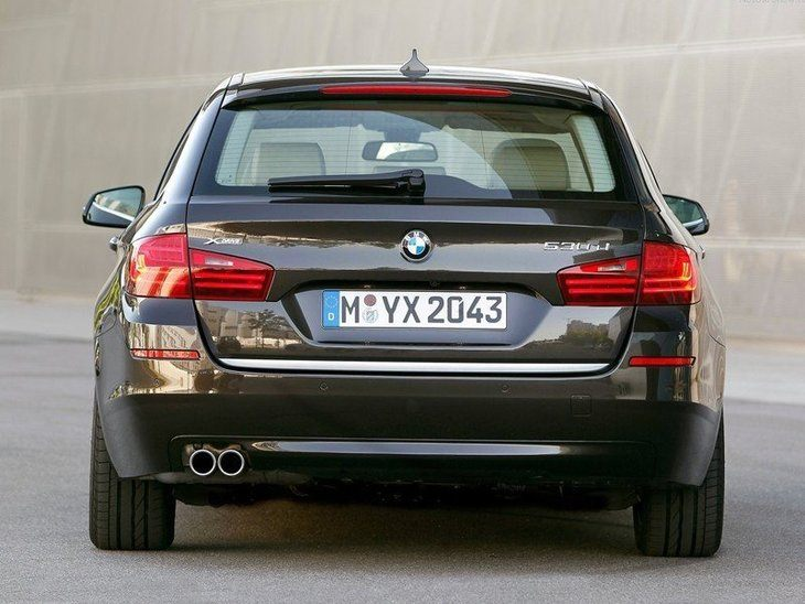 BMW 5 Series Touring Black Exterior Back