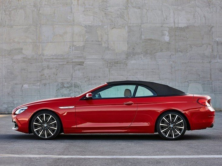 BMW 6 Series Convertible Red Exterior Side