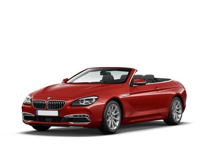 bmw 6 series convertible red front