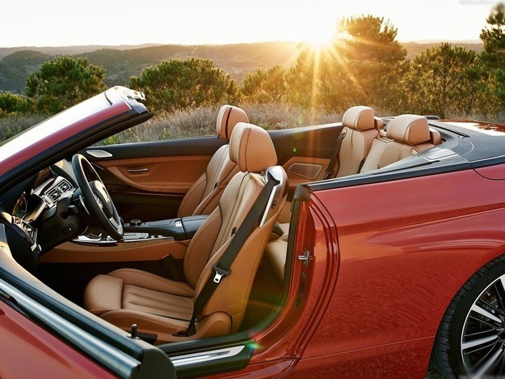 BMW 6 Series Convertible Red Interior