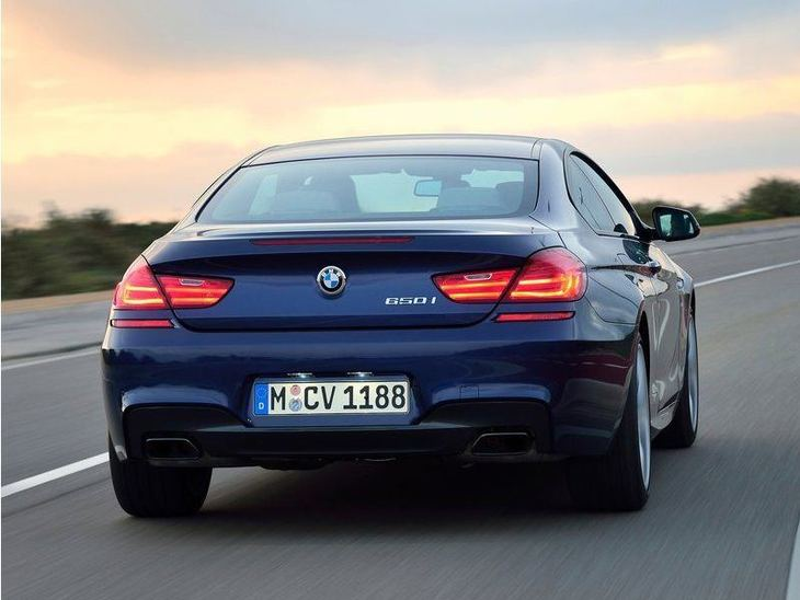 BMW 6 Series Coupe Blue Exterior Back