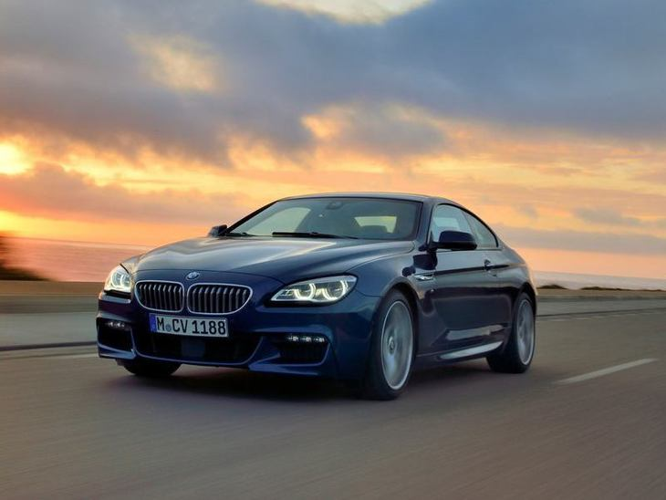 BMW 6 Series Coupe Blue Exterior Front