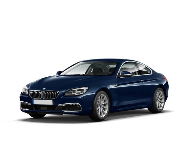 bmw 6 series coupe blue front