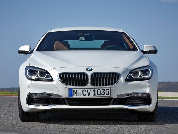 BMW 6 Series Gran Coupe White Exterior Front 2