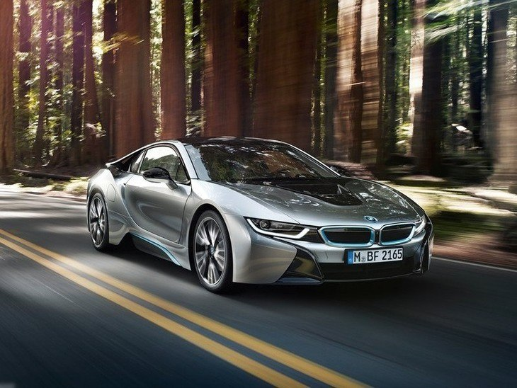 BMW i8 Silver Exterior Front