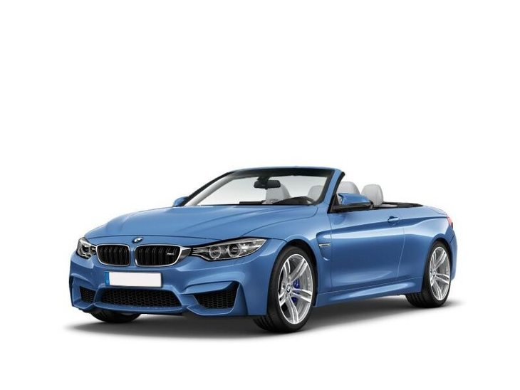bmw m4 convertible blue front