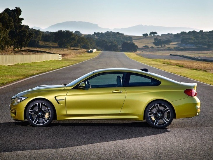 BMW M4 Coupe Green Exterior Side