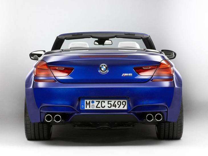 BMW M6 Convertible Blue Exterior Back
