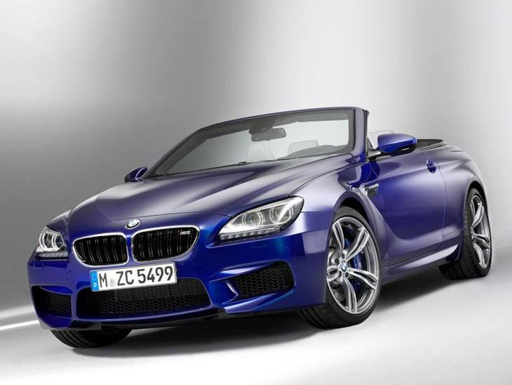 BMW M6 Convertible Blue Exterior Front2