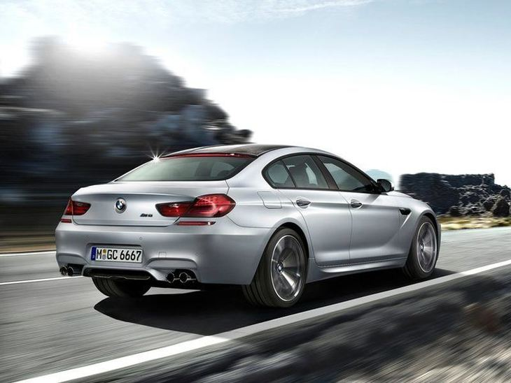 BMW M6 Gran Coupe Silver Exterior Back