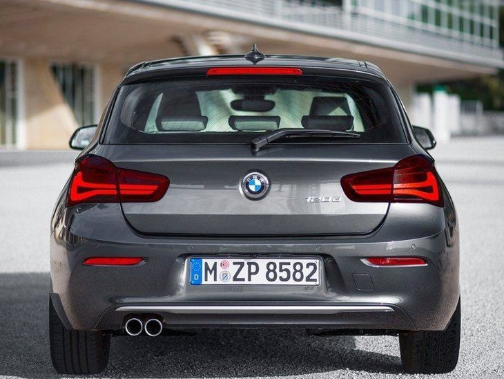 BMW Series 1 3 Door Black Exterior Back