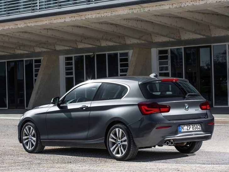 BMW Series 1 3 Door Black Exterior Side