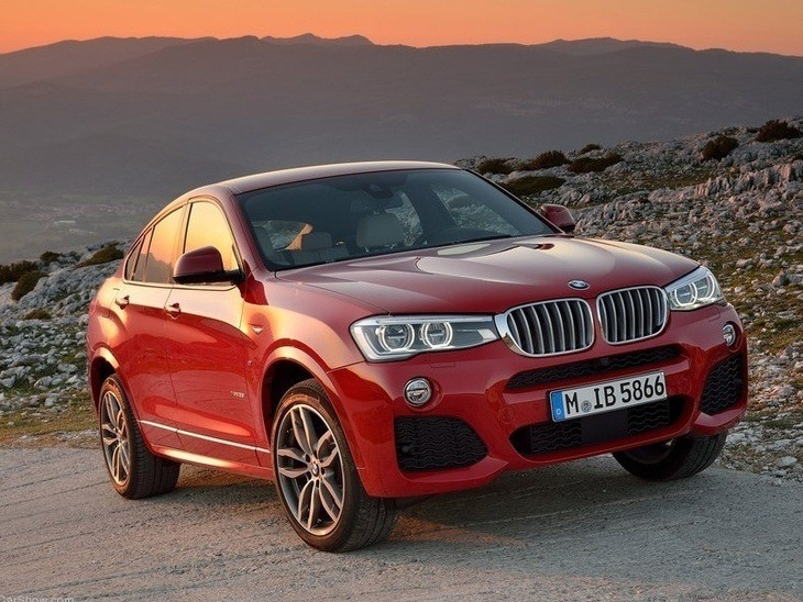 BMW X4 Red Exterior Front