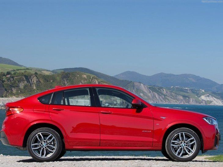 BMW X4 Red Exterior Side