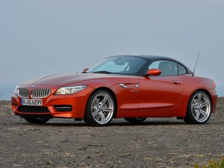 BMW Z4 Roadster Red Exterior Side