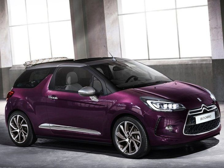 Citroen DS3 Cabrio New Model Purple Exterior Front
